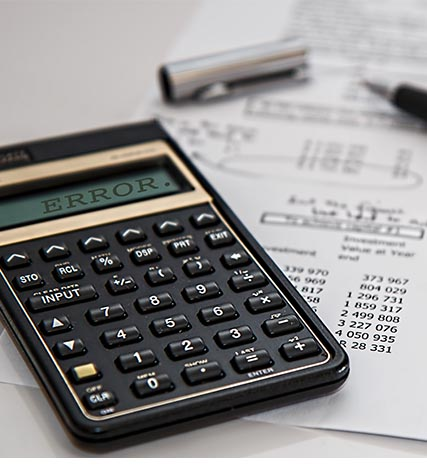 calculator Tax Error